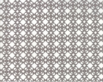 Nest - Linoleum in Pebble Gray: sku 5064-17 cotton quilting fabric by Lella Boutique for Moda Fabrics