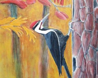 Woodpecker Greeting Card--Pileated Woodpecker--Wild Birds--Original Wildlife Art