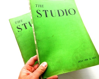 Pair of 1930 Editions of 'The Studio' with Art, Design & Architecture
