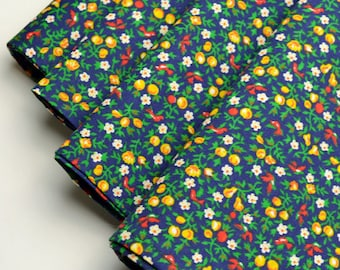 Napkins Green Cotton with Floral Pattern Set of 4