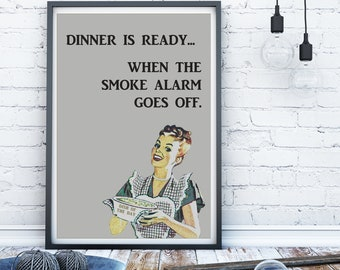 retro kitchen print, retro kitchen sign, 1950 housewife print, retro kitchen poster, retro cooking print, retro print, cooking poster