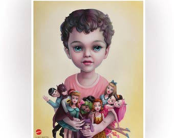 Barbie Boy - Limited Edition signed and numbered pop surrealism  Mattel - 11x14 Fine Art Print by Mab Graves