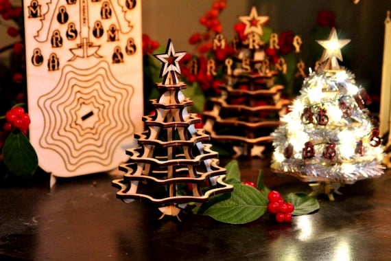 Mini Christmas Tree Kit. Wooden Desktop Tree Made From A