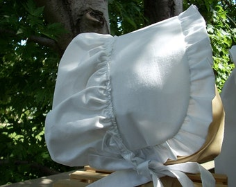Ladies Bonnet Pure White