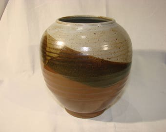 Multicolored stoneware vase