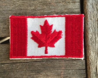 Canadian Flag Vintage Travel Souvenir Patch by Voyager - New in Original Package