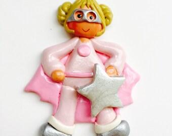 Personalized Super Hero (girl) Ornament, hero ornament, children's ornament,ornament for girls, superhero , Christmas Ornament