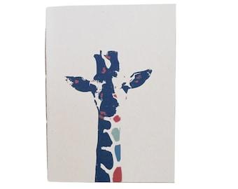 giraffe - 100% recycled paper notebook
