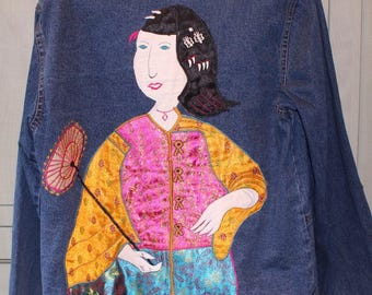 Vintage Oriental Jean Jacket