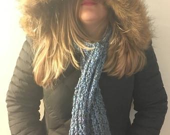 Shades of blue scarf