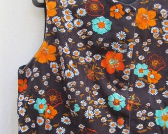 Sleeveless Floral 60's Dress