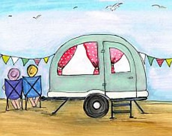 Little Bertha. Beautiful, Quirky Art Print full of Love, Life and Hope. Signed Limited Edition Print.