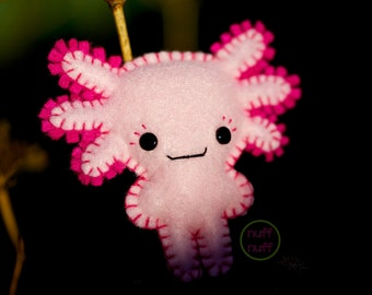 Felt Axolotl - Pocket Plush Toy