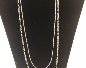 Silver multi layered chain