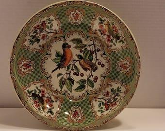 Daher England Bowl Birds Garden Cherries