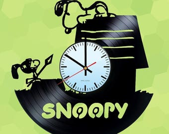 Snoopy Red Baron Vinyl Record Wall Clock