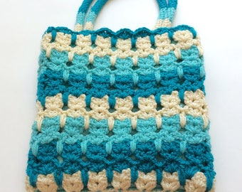 Cat Purse, Crochet Cats Shoulder Bag - Free Shipping Domestic