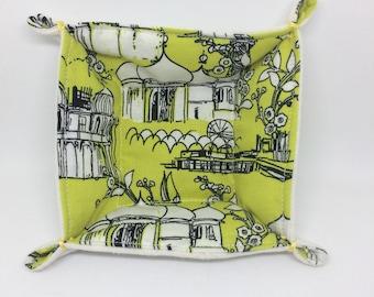 Textile Trinket Tray (yellow)