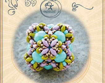 Troy - Beaded Bead Pattern with Superduo - PDF instruction for personal use only