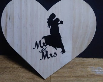 Mr and Mrs wood wall decor