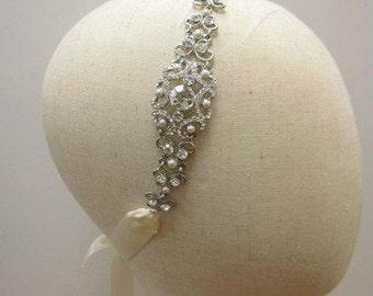 Boho Bridal headband Boho Wedding headband Bohemian Bridal headpiece Bohemian headband Crystla headband Wedding crowns headpiece Rhinestone