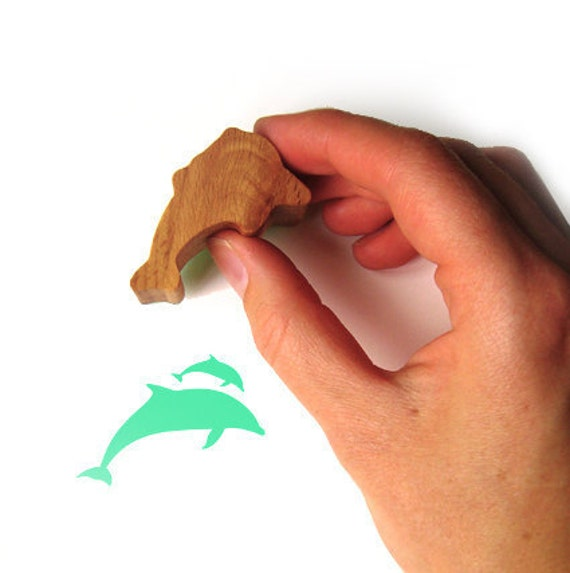 Dolphin Stamp, Rubber and Wood Stamp, Card Making and Scrapbooking