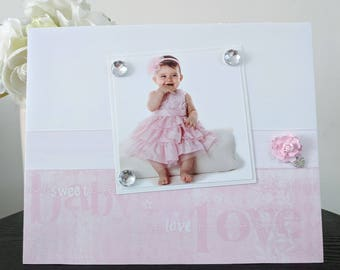 I Love You Sweet Baby Girl - Magnetic Picture Frame Handmade Gift Present Home Decor by Frame A Memory Size 9 x 11 Holds 5 x 7 Photo