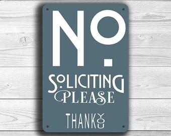 NO SOLICITATION SIGN, No Soliciting Signs, Modern style No Soliciting Sign, Please No Soliciting, No Solicitors, No Solicitation Signs