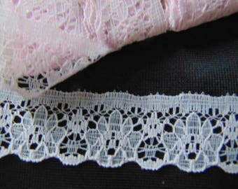 10 metres of 25mm  vintage Nottingham baby pink lace