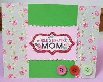 World's Greatest Mom Greeting Card