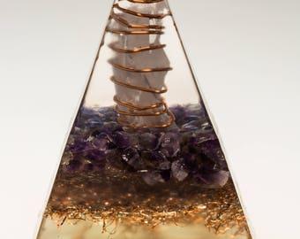 orgon-ite, amethyst, crystal, meditation, energy, spiritual, new age