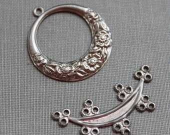 Pair of Silver Stampings / Antique Jewelry Supplies