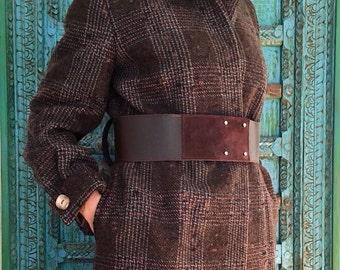Wool years ' coat 60//Women's fashion//sartorial clothing//Vintage//handmade//gift idea