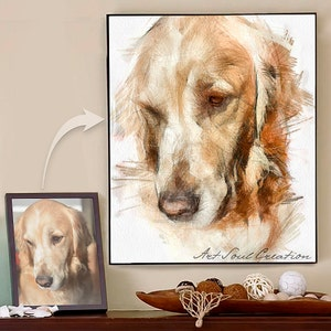 Dog Illustration, Personalizes Pet Photo To Drawing, Pet Art Portrait,  Custom Pet Lover