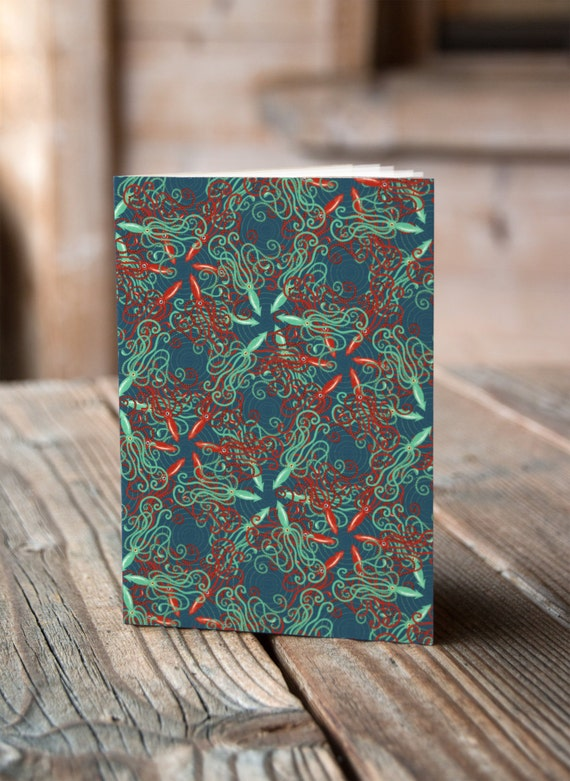 A5 Squid Pattern - Notebook / Sketchbook / Journal