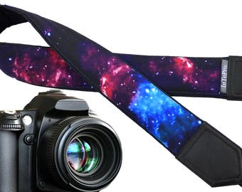 Space camera strap, Personalized camera strap. Galaxy camera strap. Cosmos Camera strap. SLR/ DSLR Camera Strap. Camera accessories