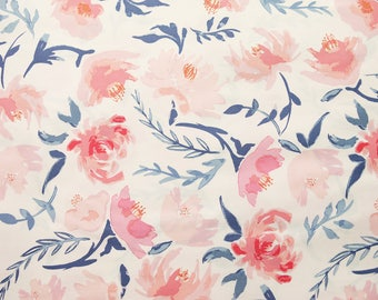 Aquarelle Study Wash - Wonder Things Collection by Bonnie Christine - Watercolor Floral Fabric - Art Gallery Fabrics - High Quality Fabric