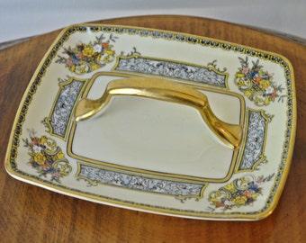 1930s Noritake Morimura, Handled Plate, Vintage Noritake Serving Plate