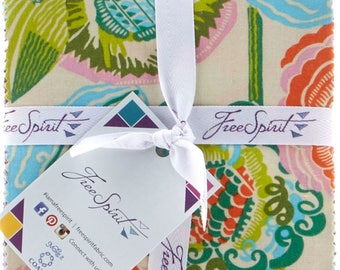 """Amy Butler Bright Heart   Free Spirit   Quilt Fabric   Precut   Fabric Bundle   Layer Cake   10"""" Squares   Quilting Cotton   Quilting Fabric"""