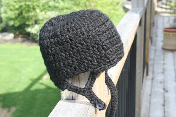 Hockey helmet hat crochet pattern newborn toddler child dt1010fo
