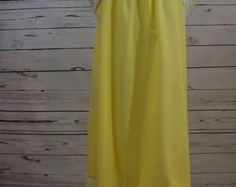 Vintage Yellow Eyelet Dress
