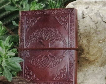 Leather Bound Journal - Tree Of Life Notebook - Celtic Symbol Diary - Leather Sketchbook