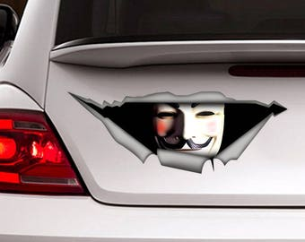 Vendetta Decal , Car decal, funny decal, vinyl decal, car decal for man, vendetta sticker