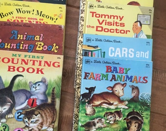 Set of Ten Vintage Little Golden Books All From the 1970's