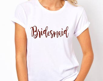 Hens Party Bachelorette Glitter Iron On Transfer - Bridesmaid