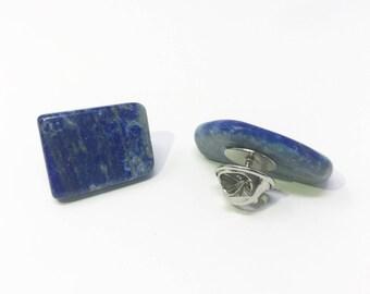 Lapis Lazuli Pin, Lapis Lazuli Jewelry, Healing Jewelry, Valentines Jewelry Gift, Lapis Lazuli Brooch, Brooch Pin, Yoga Jewelry
