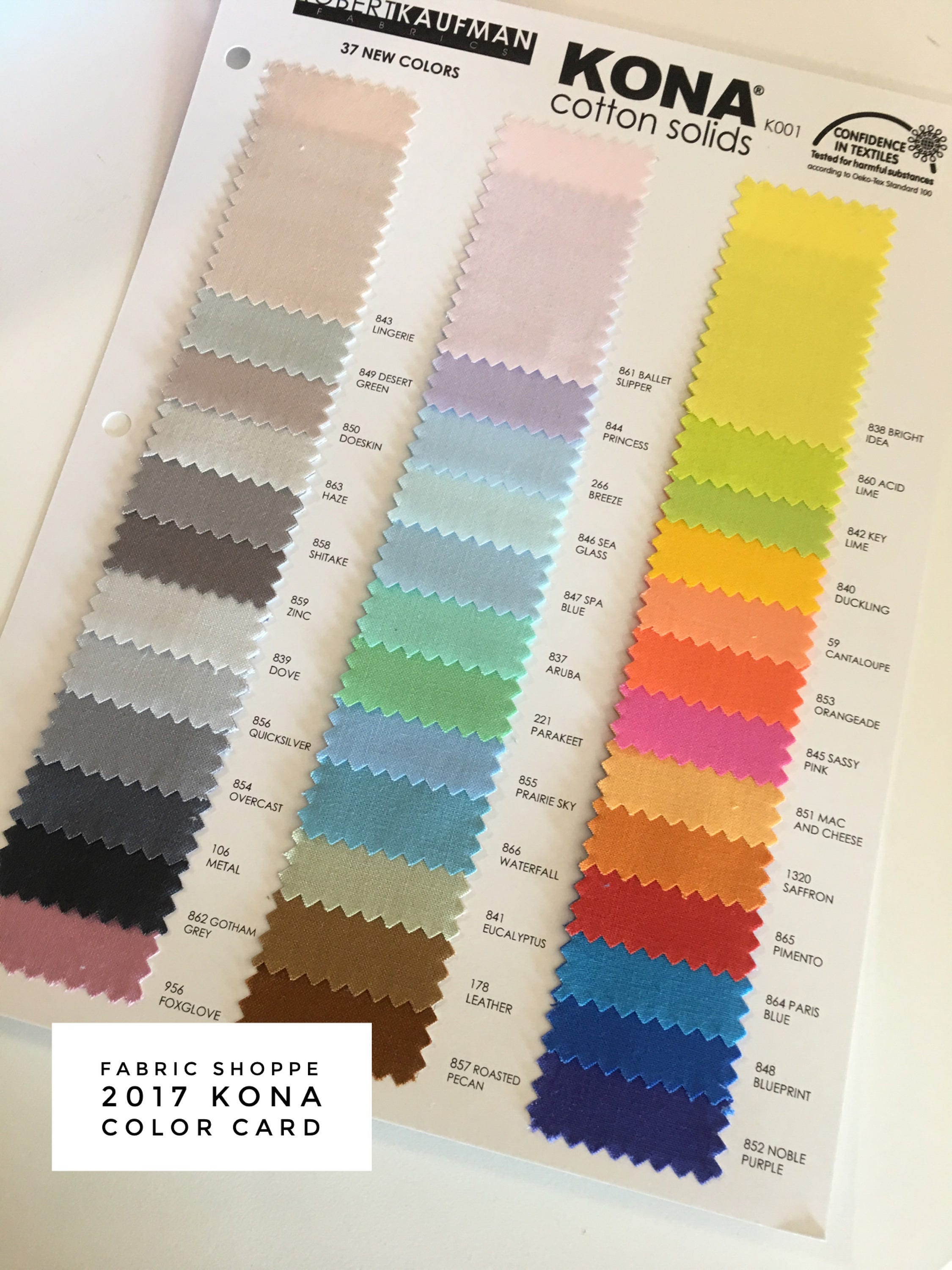 New 2017 kona color card supplement kona swatches the 2017 new 37 new 2017 kona color card supplement kona swatches the 2017 new 37 colors quilting cottons cotton solid fabric chart robert kaufman nvjuhfo Images