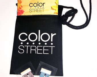 Color Street Zippered Canvas Purse