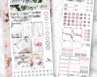 AUGUST MONTHLY VIEW Personal/Traveler's Notebook Size Stickers for your Planner