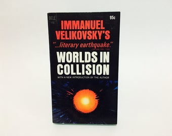 Vintage Non-Fiction Book Worlds In Collision by Immanuel Velikovsky 1972 Paperback